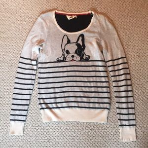 French bull dog striped sweater